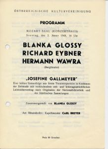 1949-01-02 Programm Josefine Gallmeyer