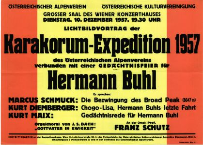 Karakorum-Expedition 1957 - Gedächtnisfeier Hermann Buhl